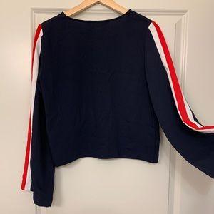 ZARA Navy Stripe Long-sleeve Shirt